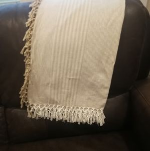 Other - Cream and white tassel throw